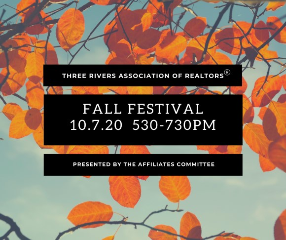 Fall festival 2020 graphic from Becca with corrected time