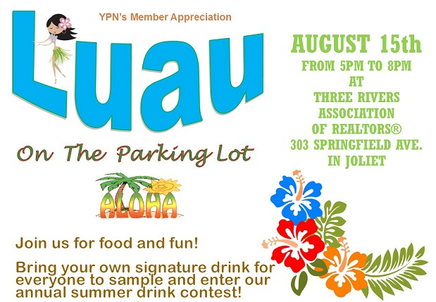 Membership cookout Luau theme graphic