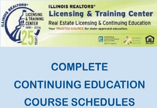 Complete Continuing Ed course schedule graphic